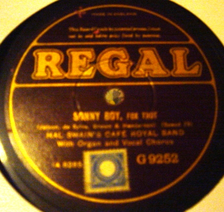 Hal Swain Cafe Royal Band - Sonny Boy - Regal G.9252